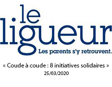 « Coude à coude : 8 initiatives solidaires»